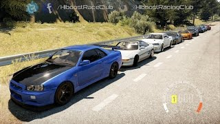 Forza Horizon 2 (XB1) | 750HP R34 Skyline Build | Bridge Drags, Cruise, Highway Runs & More