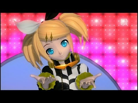 [30fps Full風] Melt メルト -Hatsune Miku Kagamine Rin 初音ミク 鏡音リン Project DIVA English lyrics Romaji
