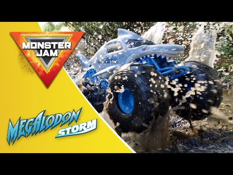 MONSTER JAM MEGALODON STORM RC   DRIVES ON LAND AND WATER
