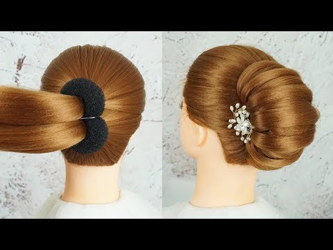 New French Bun Hairstyle Step By Step - French Roll Hairstyle With Clutcher | Braid Hairstyles 2019