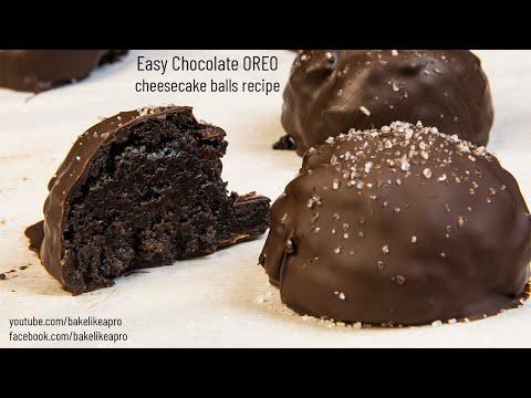 Easy Chocolate OREO Cheesecake Balls Recipe