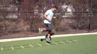 Ladder Drills: 1 Ft 90 Degree Hurricane | Sweat City Athletic Performance Training