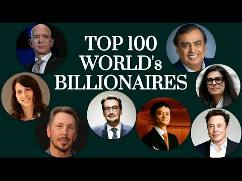 Top 100 World's Billionaires / World's Richest People 2020.