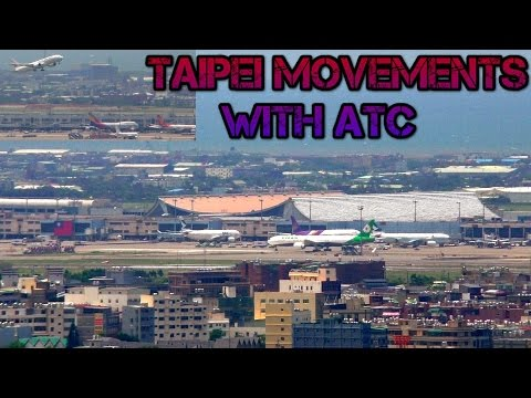 Taipei Taoyuan Airport Aircraft movements with Air traffic control