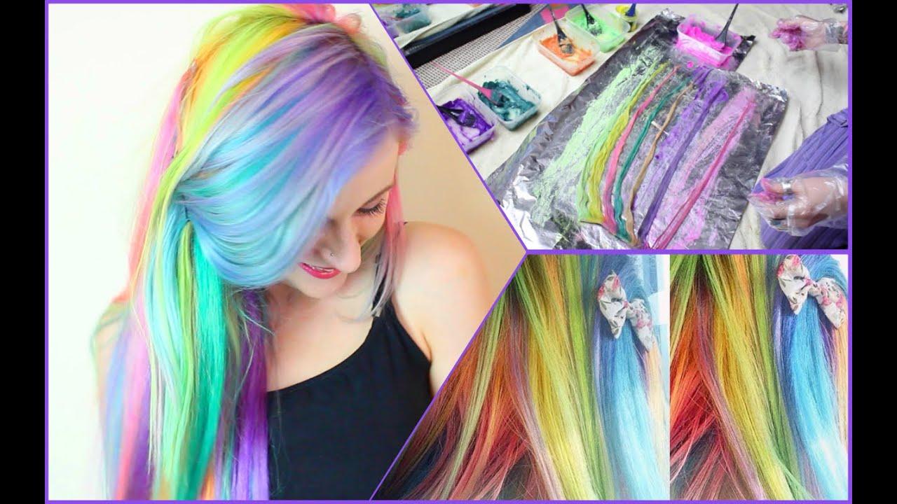rainbow candy hair extensions youtube pmusecretfo Choice Image