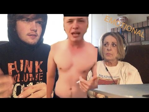 Grandma Reacts to Crying Dude Raps About his Dead Mother