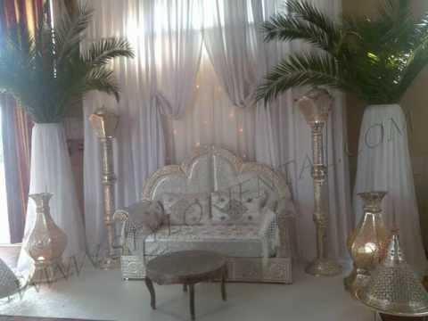 fauteuils de mari s d coration mariage oriental youtube. Black Bedroom Furniture Sets. Home Design Ideas