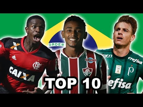 Top 10 Young Players (U21) in Brazil 2017  (HD)
