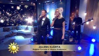 """""""Julens hjärta"""" - Magnus Carlsson och Jessica Andersson - Nyhetsmorgon (TV4)"""