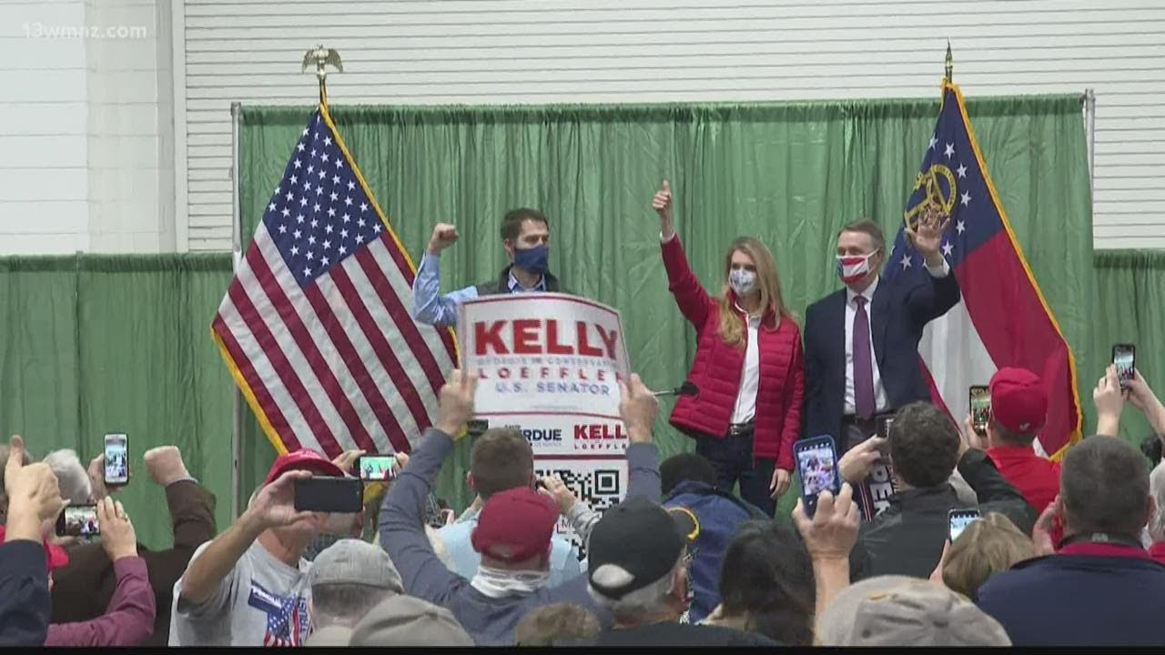 Senators David Perdue, Kelly Loeffler campaign in Perry ahead of runoff