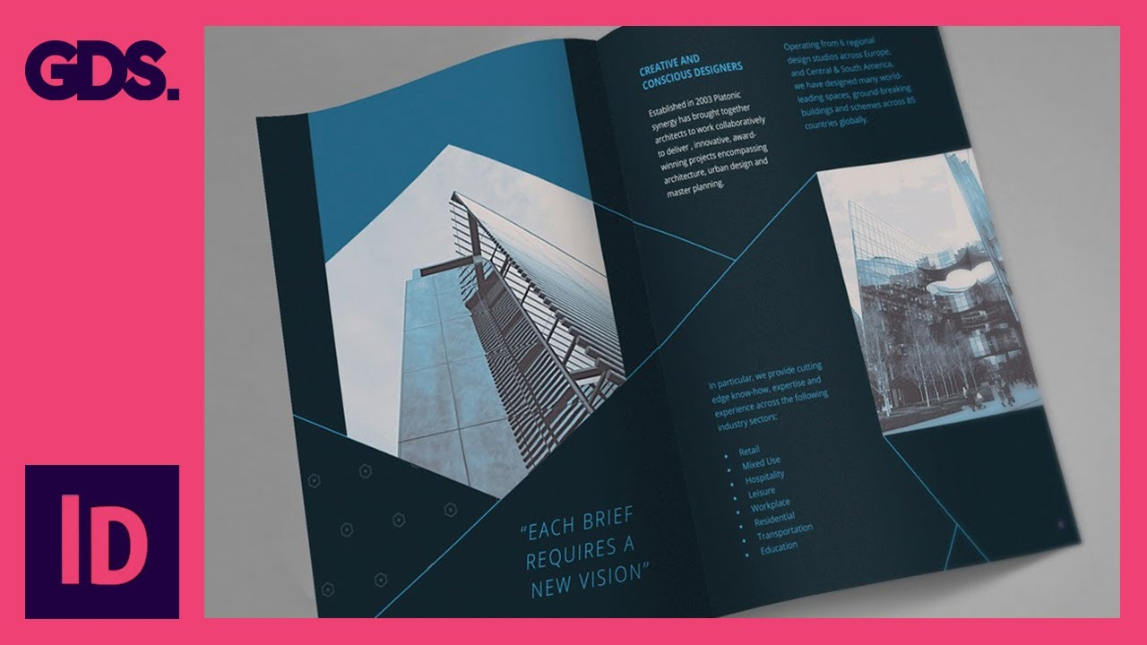 brochure design course - add type to brochure in indesign ep11 15 multimedia