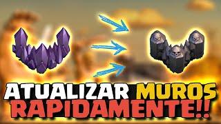 ATUALIZANDO MUROS RAPIDAMENTE - Clash of Clans