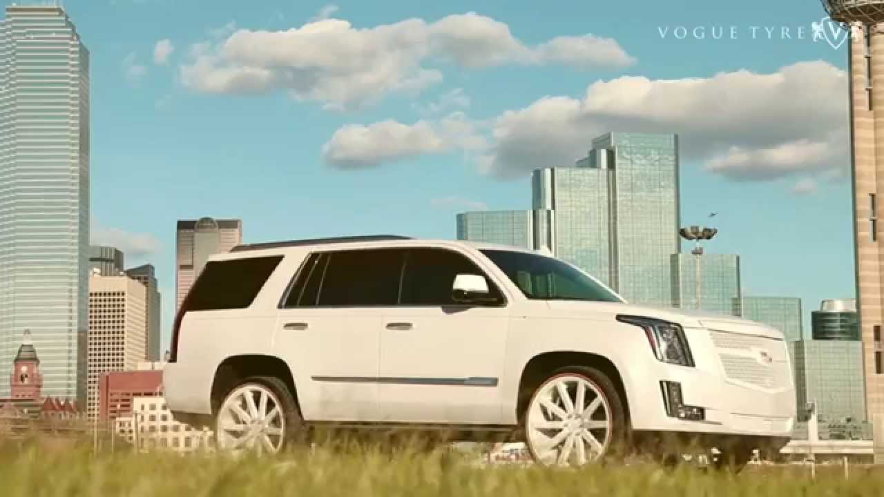 custom cadillac escalade with 24 inch vogue tires review drive youtube [ 1280 x 720 Pixel ]