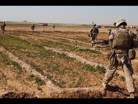 USMC Patrol in Helmand Province, Afghanistan