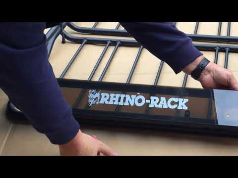 How to instal Rhino Rack X Tray onto Roof Bars and assemble the rack/tray from the box