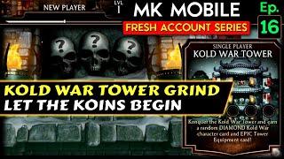 Playing Kold War Toẁer with Weak Team! MK Mobile Fresh Account Series Ep. 16.