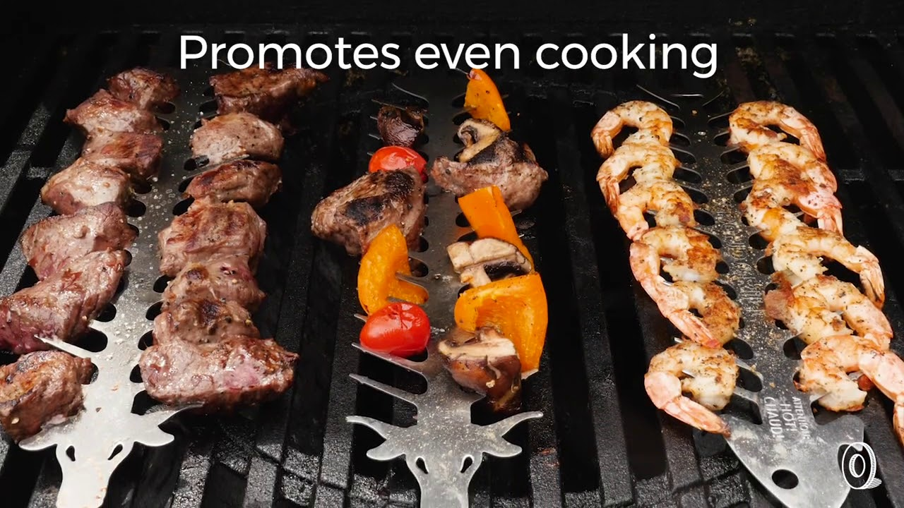 Proud Grill Slide /& Serve BBQ Skewers 4 Count