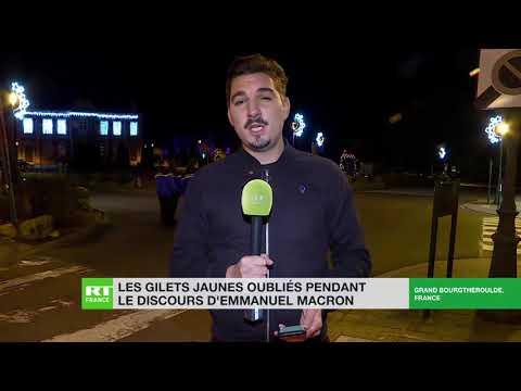 Les Gilets jaunes oubliés pendant le discours d'Emmanuel Macron