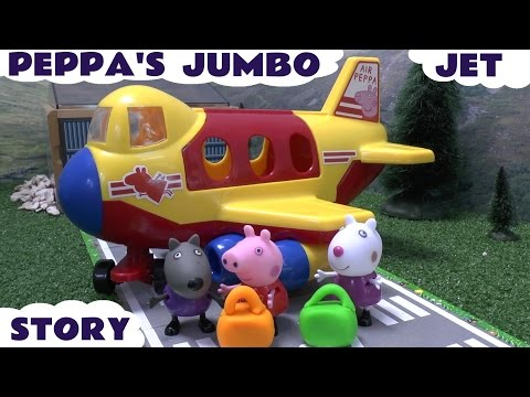 Peppa Pig Thomas The Tank Engine Play Doh Disney Planes Dusty Jumbo Jet Airport Playdoh School Story