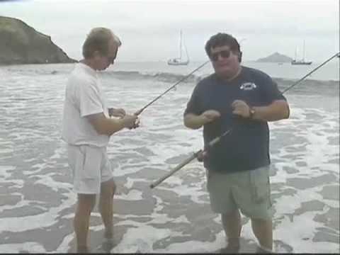 Dan hernandez surf fishing at santa cruz island youtube for Santa cruz fishing report