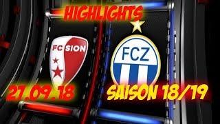 Highlights: Fc Sion vs Fc Zürich (27.09.18)