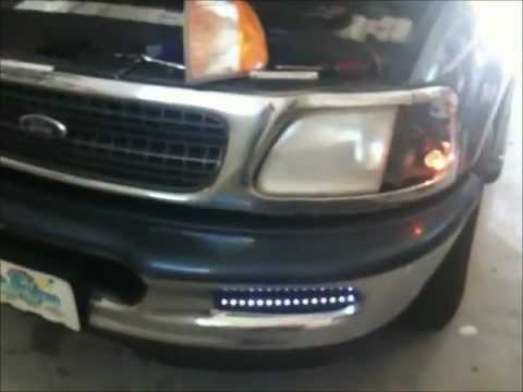 HOW TO install LED fog lights on ford expedition - YouTube