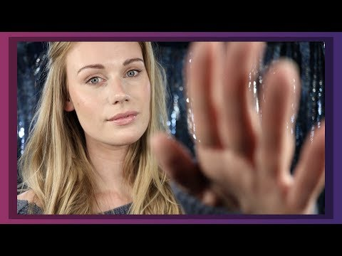 ASMR FACE TOUCHING AND HAND MOVEMENTS WHISPER