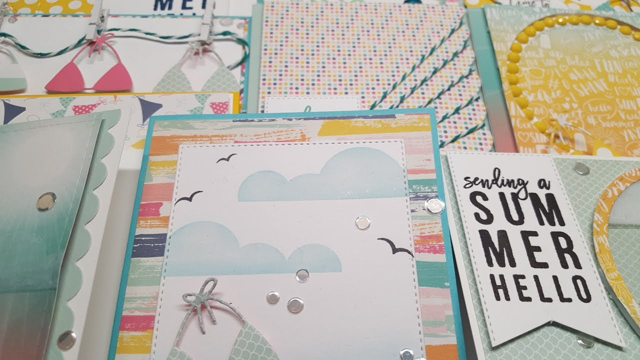 10 Cards 1 Kit | SSS Card Kit Of The Month U0027u0027Summer Hellou0027u0027 July U002717