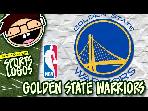 How to Draw the GOLDEN STATE WARRIORS Logo (NBA) | Narrated Easy Step-by-Step Tutorial