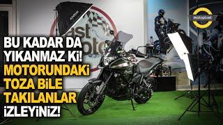 Hem Motosikletinizi Yıkatın Hem Eğlenin. Fast Moto!