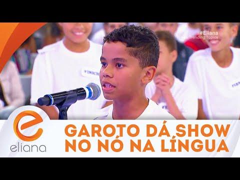 Garoto dá show no quadro Nó na Língua | Programa Eliana (02/09/18)