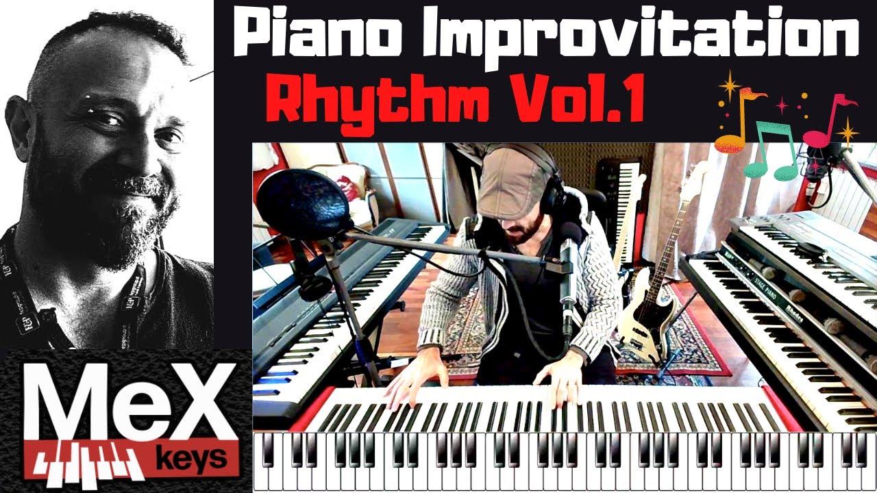 Piano tutorial Rhythm Vol.1 by MeX (Subtitles)