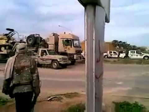 Video purportedly shows Libyan soldiers entering Benghazi on March 19