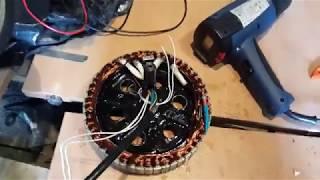 Зачем лачить статор!???  И нужно ли его лачить!? Доработка мотор колеса
