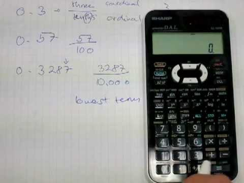 Convert fractions to decimals in head and by a calculator - YouTube