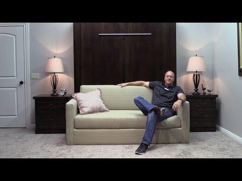 Sofa Murphy Bed by Wilding Wallbeds   St. George, Utah   YouTube
