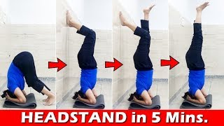 How to do HEADSTAND for Beginners | Benefits of Headstand Yoga pose (Sirsasana) | Hindi