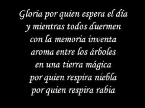 Gloria - Umberto Tozzi Spanish Version Letra