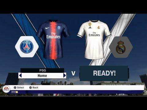 Fifa 19 Mod Fifa 18 Preview Game PS Vita - Paris Saint Germain Vs Real Madrid