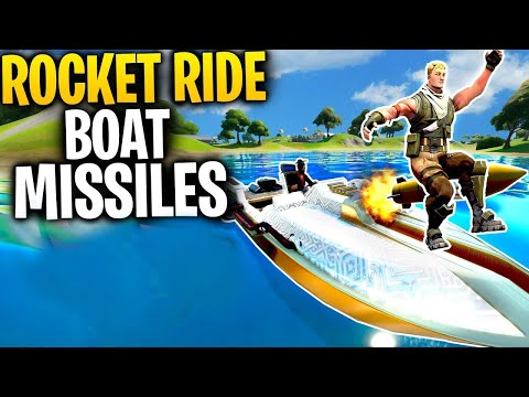 Can You ROCKET RIDE The BOAT MISSILES In Fortnite Chapter 2? | Fortnite Mythbusters