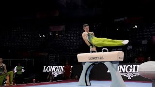 Rhys McClenaghan (IRL) PH - 2019 Worlds Stuttgart - Podium Training