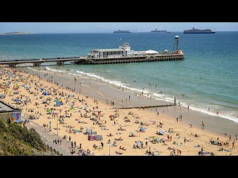 Bournemouth beach busy