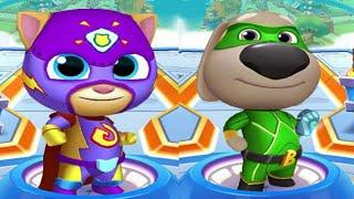 Hero Ben VS Hero Ginger - My Talking Tom Hero Dash Gameplay!