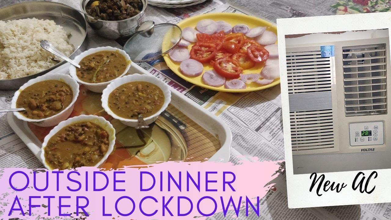 Amazon se Mangaya Naya AC nikla Kharab   First Outside Dinner After lockdown