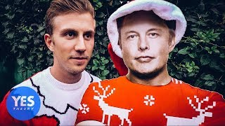 Sneaking into Tesla HQ for our Holiday Card with ELON MUSK