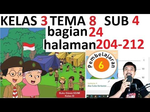 Tema 8 Kelas 3  Subtema 4 Halaman 204 212 Praja Muda Karana Bagian 24 Rev 2018