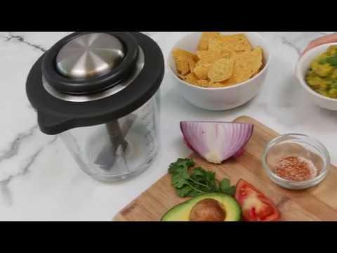 Chef\'n VeggiChop Pro Pull Powered Food Processor - YouTube