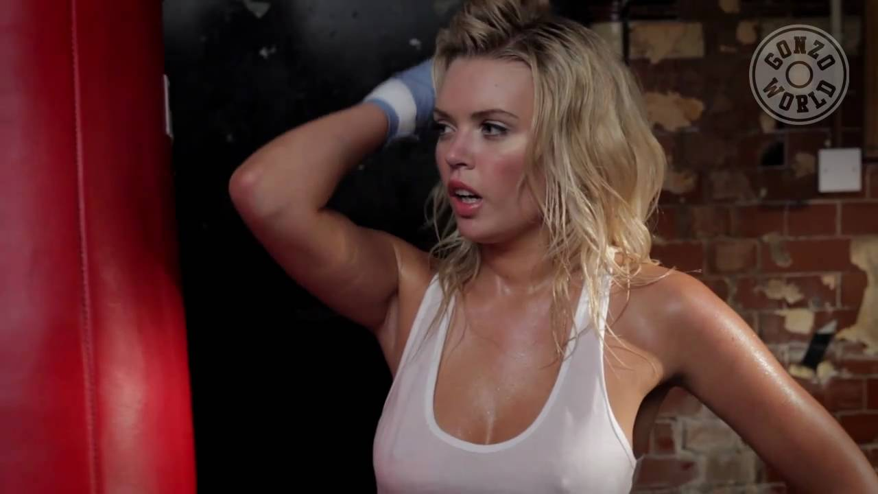 Babe Boxing In The Gym In Slow Motion Short Version -6480