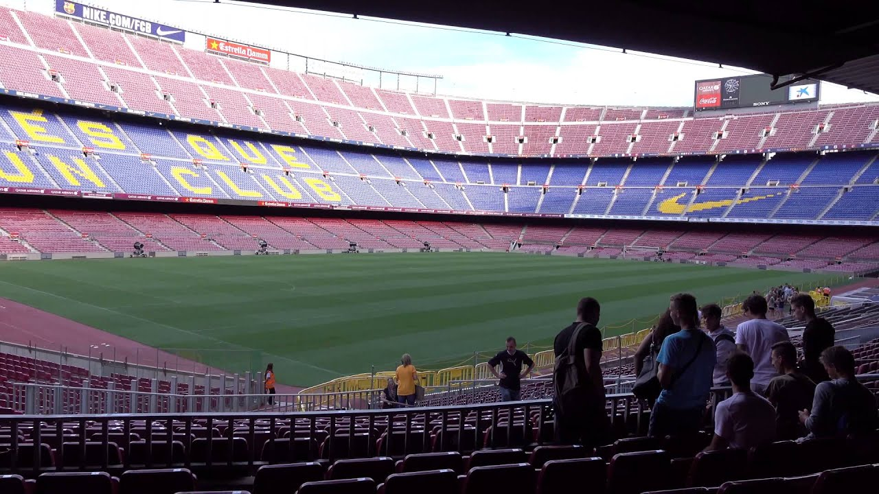 Fc barcelona camp nou stadium tour 4k youtube - Camp nou 4k wallpaper ...