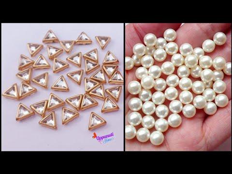 Simple And Beautiful Pearl Earrings Making At Home | DIY | Pearl Drop Earrings | uppunutihome